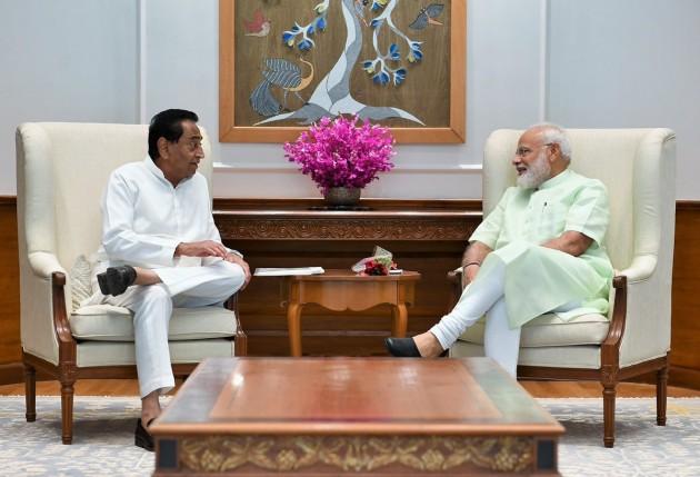 Madhya Pradesh CM Kamal Nath Meets PM Narendra Modi At His Residence