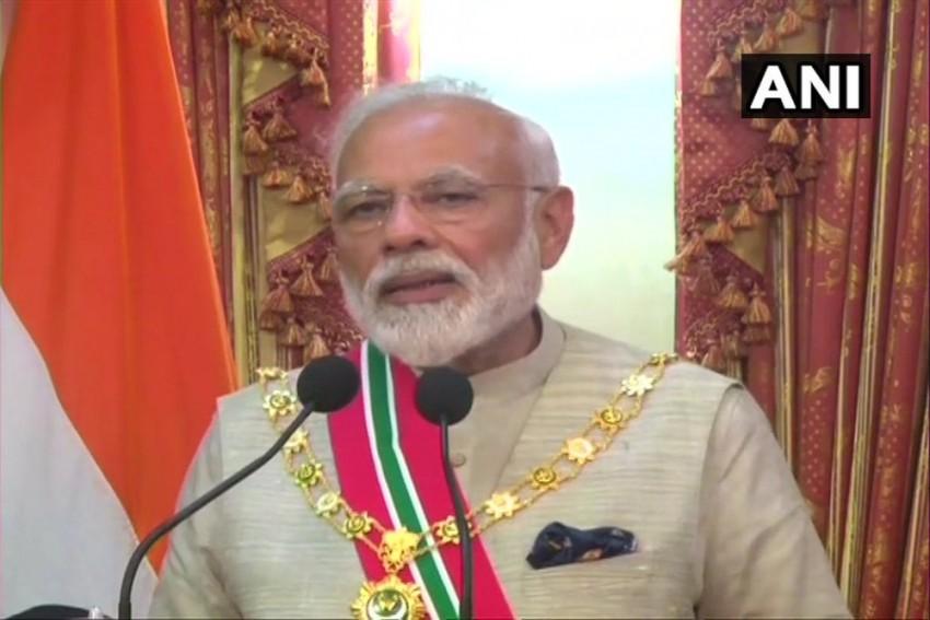 PM Narendra Modi Conferred With Maldives' Highest Honour 'Rule of Nishan Izzuddeen'