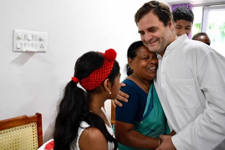 Rahul Gandhi Meets Kerala Nurse Who Held Him As A Newborn
