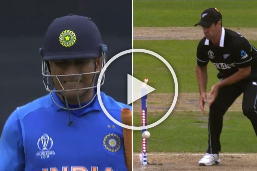 IND vs NZ, ICC Cricket World Cup 2019: Watch MS Dhoni's Nerve-Wracking Run-Out Which Ended India's Dreams – VIDEO