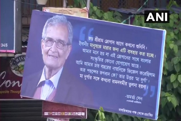 Billboards With Noble Laureate Amartya Sen's Remarks Over 'Jai Shri Ram' Appear On Kolkata Streets