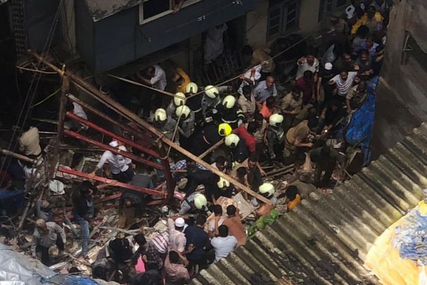 11 Killed, Over 40 Trapped Under Debris As 100-Year-Old Building Collapses In Mumbai's Dongri