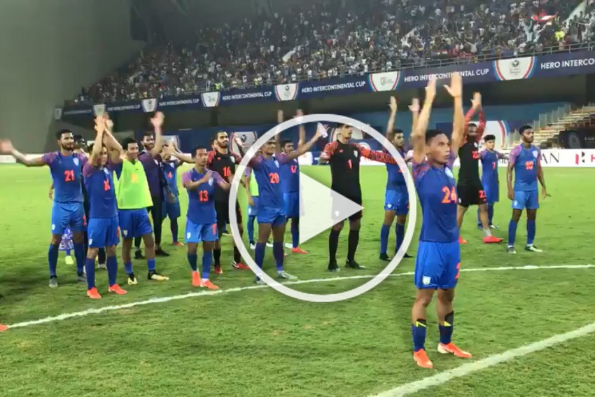 WATCH: Sunil Chhetri Encourages Youngster Amarjit Singh To Lead Chants After Intercontinental Cup's India-Syria Draw