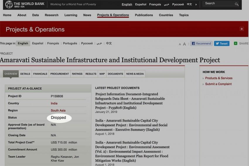 World Bank Drops Chandrababu Naidu's Ambitious Amaravati Project; Pulls Out $300 Million