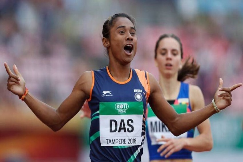 Hima Das Bags Fourth Gold In 15 Days, Muhammed Anas Claims Top Spot In Men's 400m