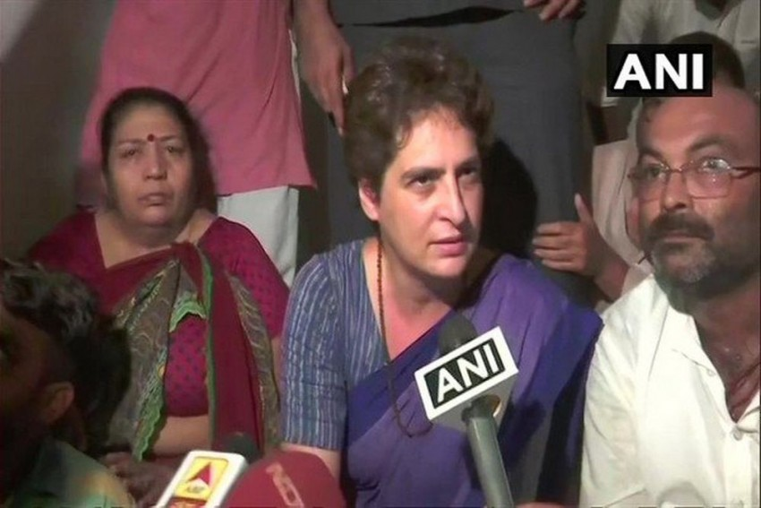 After Spending Night In UP's Mirzapur, Priyanka Gandhi Says 'Won't Leave Without...'