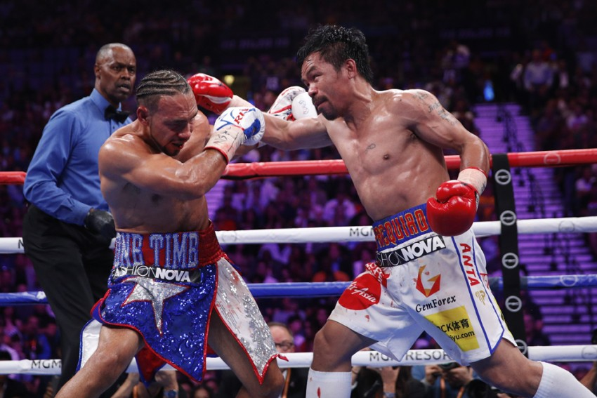 Boxing Legend Manny Pacquiao Defeats Keith Thurman To Win WBA Super Welterweight Title