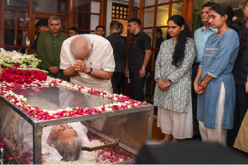 Mortal Remains Of Ex-Delhi CM, Congress Leader Sheila Dikshit Cremated With State Honours