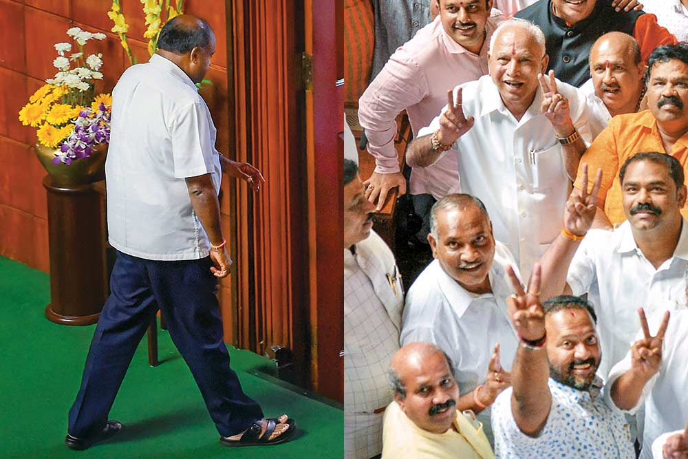 Height Of Distrust -- Thrice In 13 Years A Coalition Government Jinxed In Karnataka