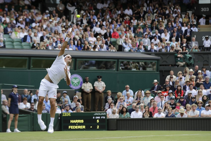 Wimbledon: Roger Federer Comes From A Set Down To Brush Lloyd Harris Harris Aside