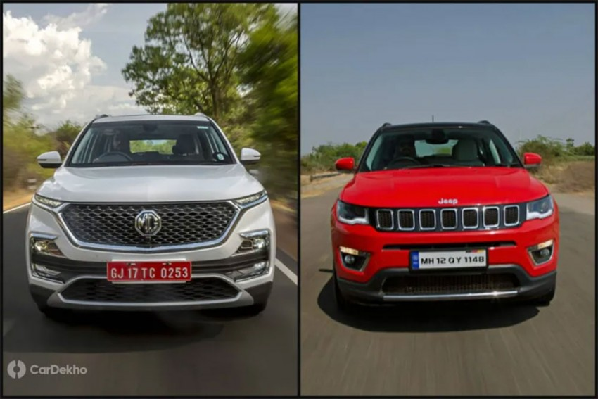 MG Hector vs Jeep Compass: Petrol-Automatic Mileage Compared