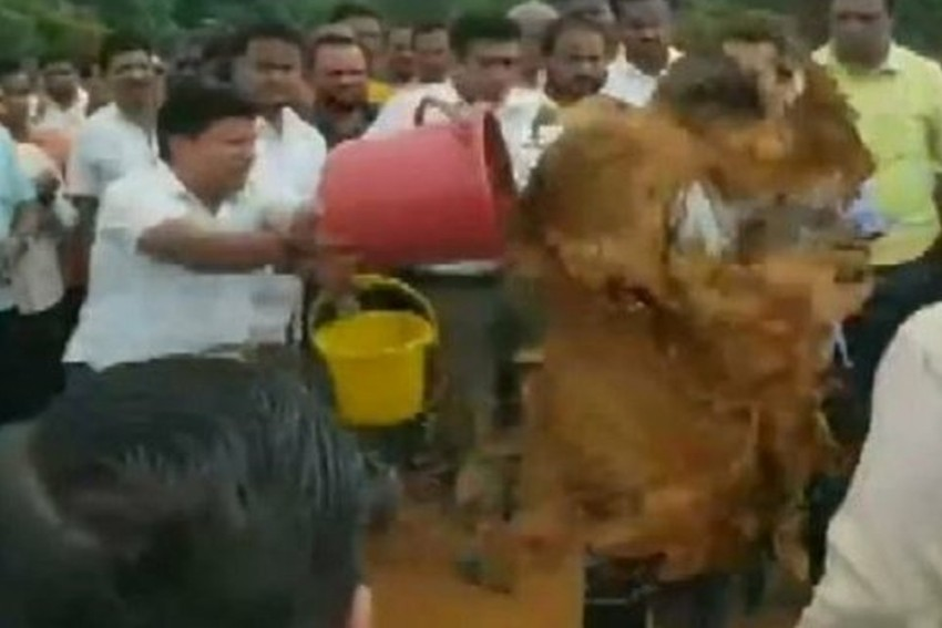 MLA Nitesh Rane, 16 Supporters Arrested For Pouring Mud On Engineer