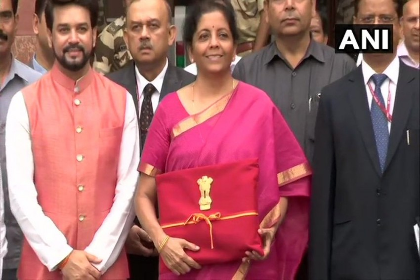 Budget 2019: Finance Minister Nirmala Sitharaman Carries Documents In Red Cloth Bag Instead Of Briefcase