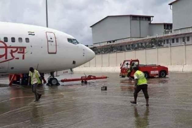 Flight Operations At Mumbai Airport Delayed As Heavy Rains Lash City