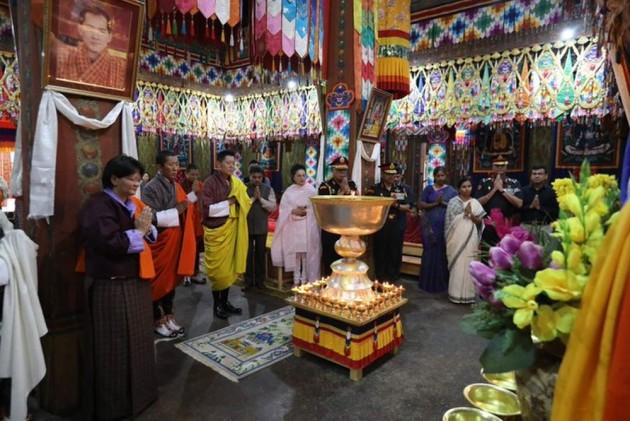 Bhutan King Lights Thousand Butter Lamps In Memory Of Sushma Swaraj