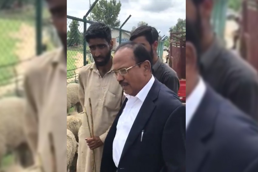 NSA Ajit Doval Visits Anantnag, Interacts With Cattle Traders, Locals