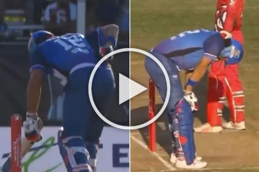 Global T20 Canada: Yuvraj Singh Injures Himself While Attempting Slog Sweep – WATCH