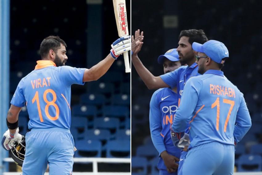 WI Vs IND, 2nd ODI: Virat Kohli, Bhuvneshwar Kumar Power India To 59-Run Win, Take 1-0 Lead