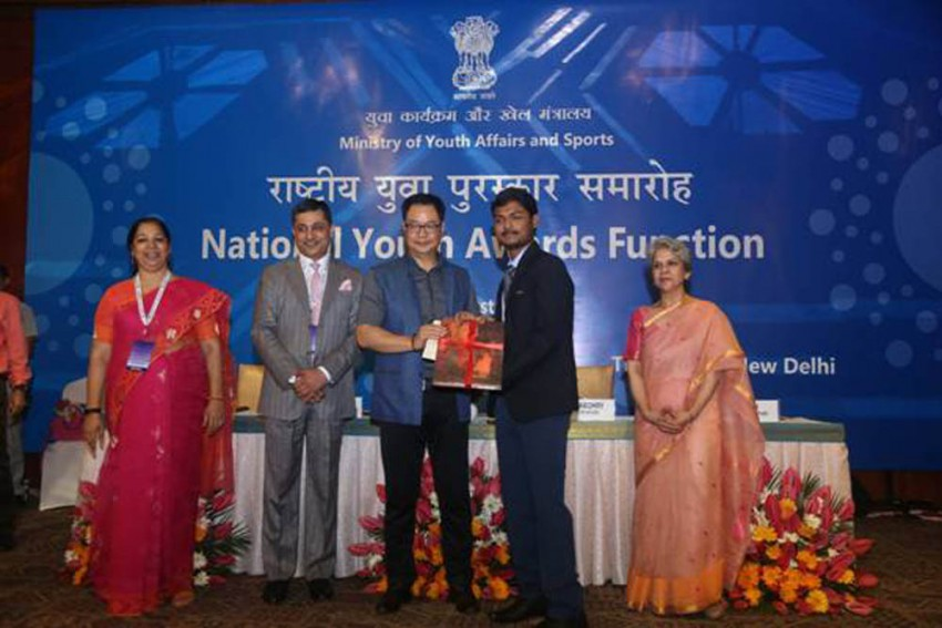 Sports Minister Kiren Rijiju Confers National Youth Awards To Individuals And Organisations