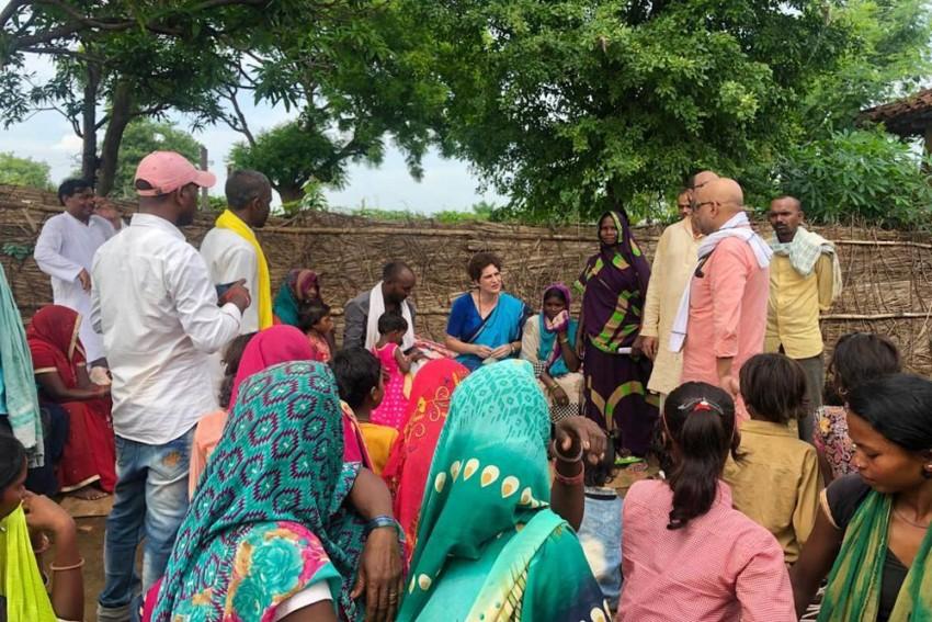 Priyanka Gandhi Visits Sonbhadra Village; UP Deputy CM Calls It 'Political Stunt'