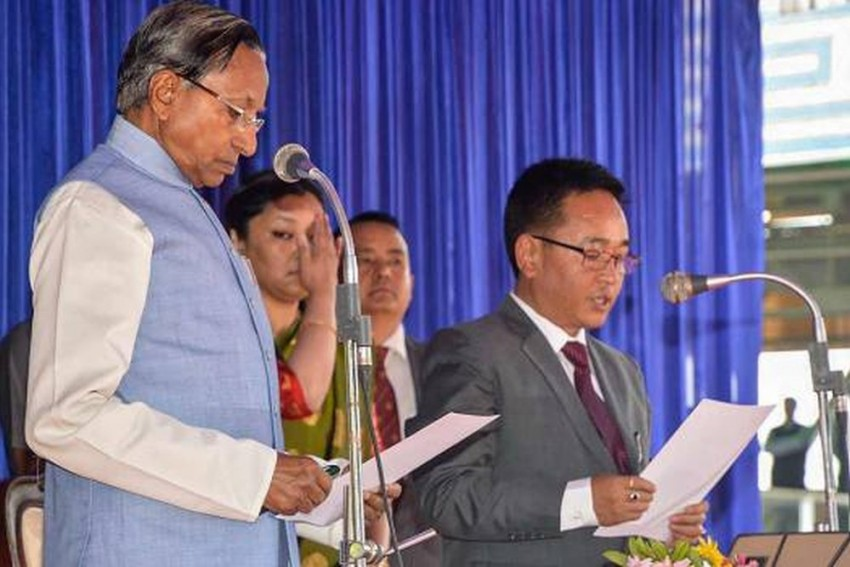2 SDF MLAs Join Ruling SKM In Sikkim A Day After 10 From Party Joined BJP