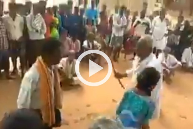 Dalit Girl Brutally Beaten Up By Village Elder In Andhra Pradesh In Public, Video Goes Viral