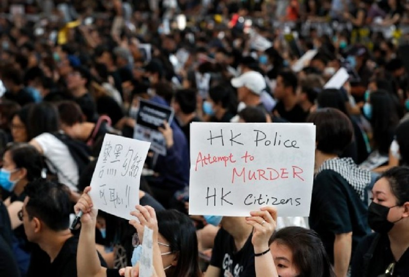Defiant Hong Kong Protesters Rally To Show 'Peaceful' Credentials Despite Warning From Beijing