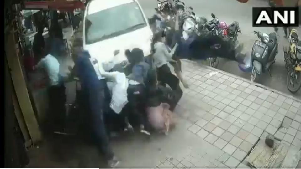 Video: Drunk Driver Crashes Car Into Pedestrians In Bengaluru, Several Injured