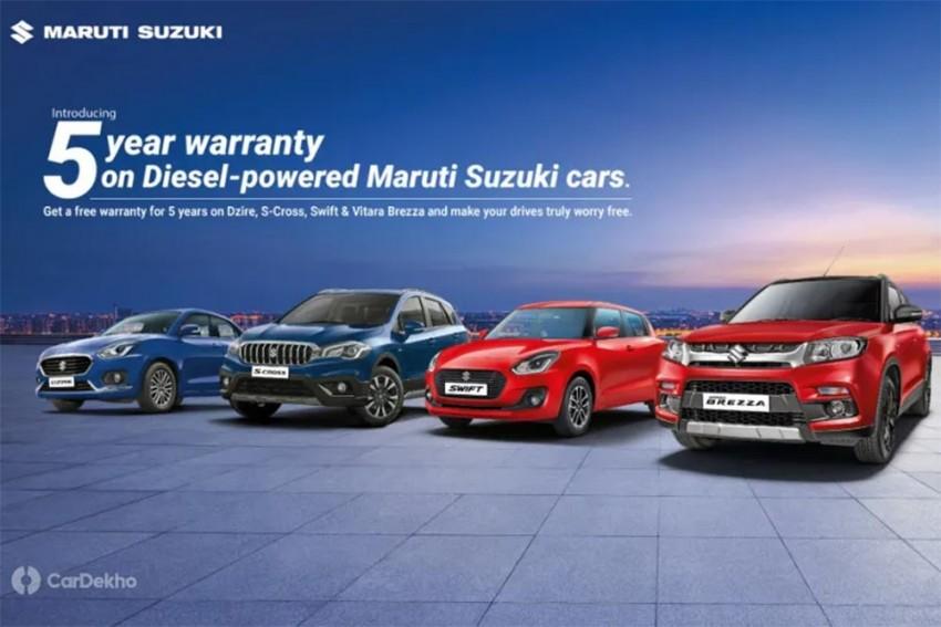 Diesel Maruti Dzire, Swift Vitara Brezza, S-Cross Get Free 5 Year Warranty