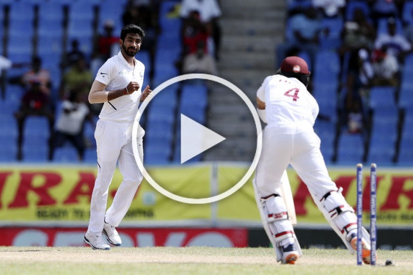 WI Vs IND, 1st Test: Record-Breaking Jasprit Bumrah's Devastating Spell Reduces West Indies To Ashes – WATCH