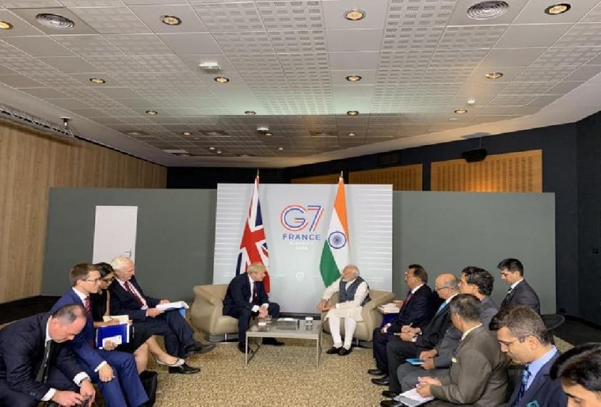PM Modi Meets Boris Johnson At G-7 Summit; Discusses Bilateral Ties, Security