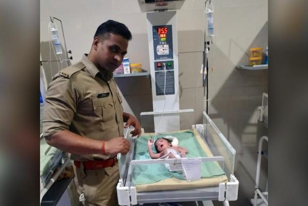 Uttar Pradesh Police Rescue Newborn Dumped In Drain