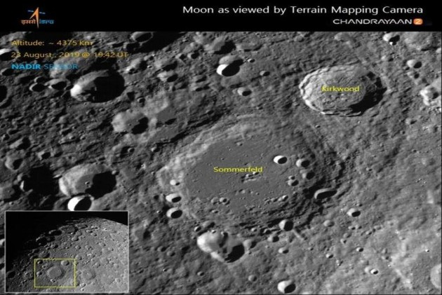 ISRO Releases Latest Images Of Moon Craters Taken By Chandrayaan-2
