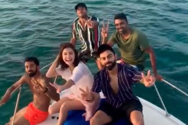 Bleed Blue! Anushka Sharma, Virat Kohli Sizzle In KL Rahul's Holiday Yacht - WATCH VIDEO