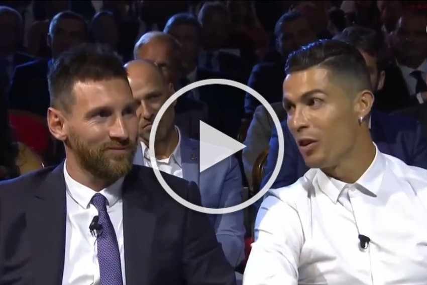 WATCH: Sitting Next To Each Other, Cristiano Ronaldo Asks Lionel Messi Out For Dinner Date