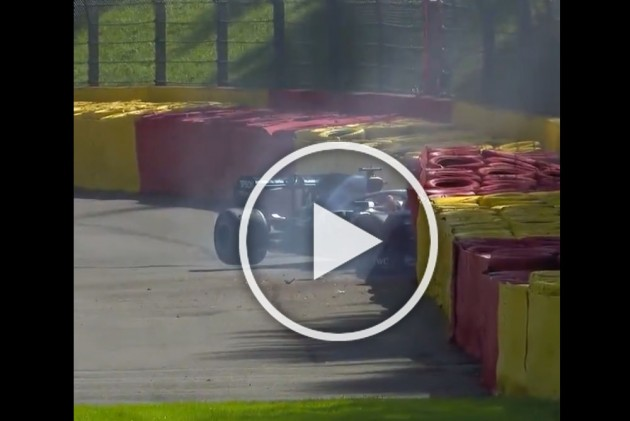 Lewis Hamilton Crash Brings Out Red Flag In FP3 At The Belgian Grand Prix – WATCH