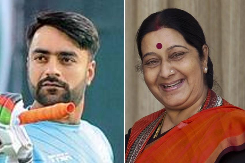 When Sushma Swaraj Won The Hearts With Unforgettable Tweet On Rashid Khan