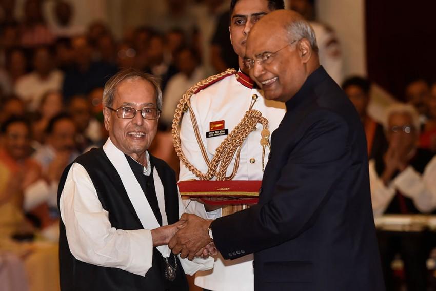 Former President Pranab Mukherjee Receives Bharat Ratna