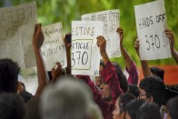 Kashmiri Students And Professionals Protest In Delhi, Demand End Of Communication Blockade