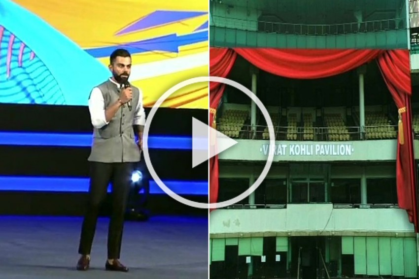 Virat Kohli Turns Emotional After DDCA Unveils A Stand In His Name; Feroz Shah Kotla Becomes Arun Jaitley Stadium - Video