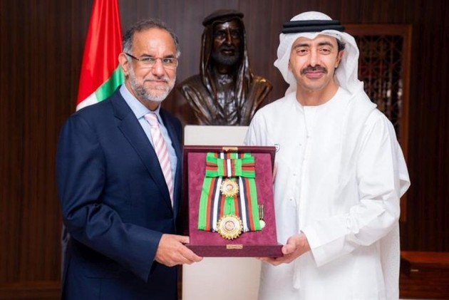 UAE Honours Outgoing Indian Ambassador With Order Of Zayed II Award