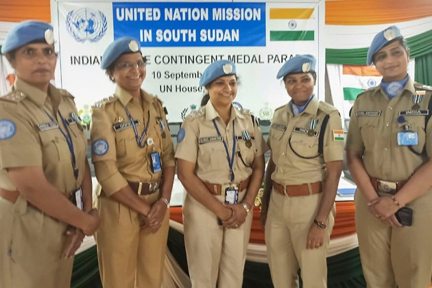 5 Women Among 17 Indian Police Officers Honoured By UN For Role In South Sudan