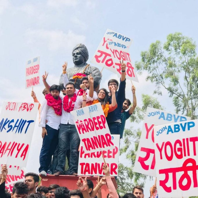 DUSU Elections 2019: ABVP Bags 3 Posts, NSUI 1