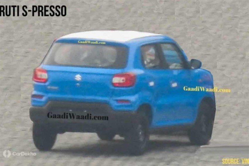 Maruti S-Presso Rear End Design Spied For The First Time