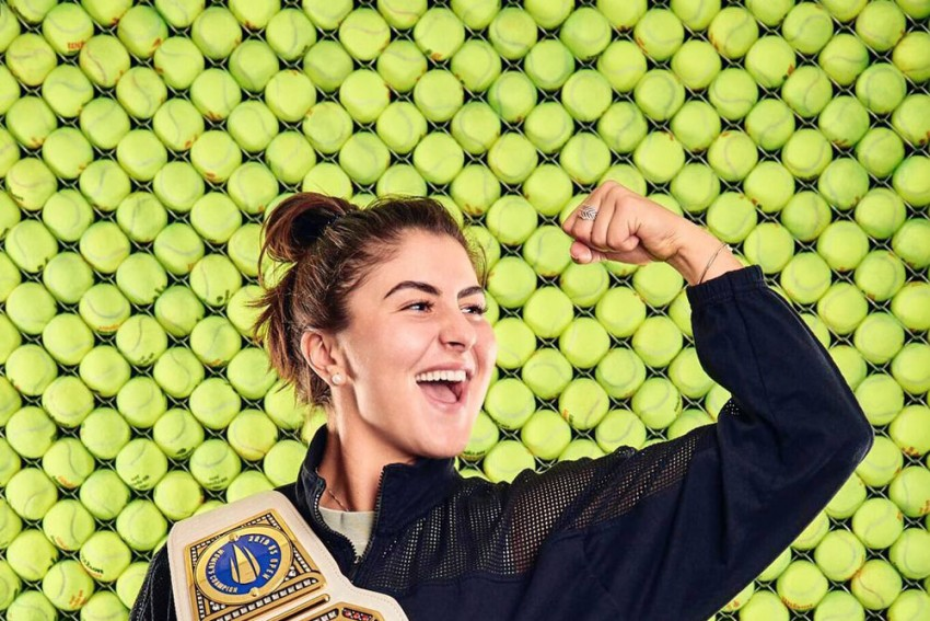 US Open Champion Bianca Andreescu Receives Customised WWE Belt