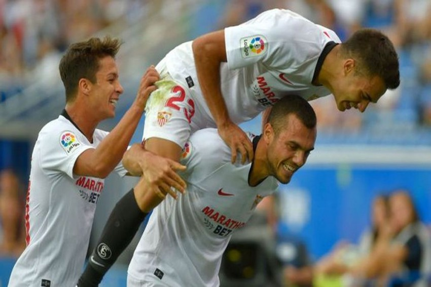 La Liga: Joan Jordan Free-Kick Fires Sevilla To Top Of Table