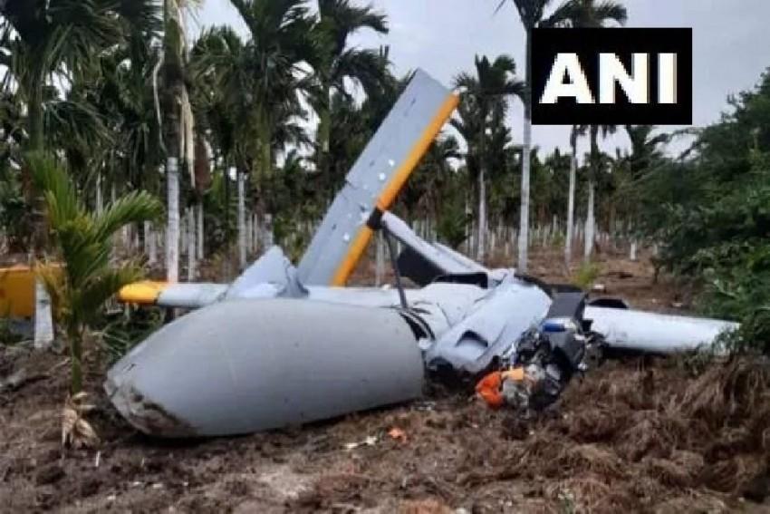 DRDO's 'Rustom-2' Drone Crashes In Karnataka During Trial