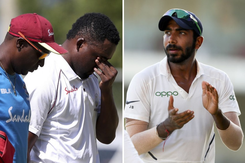 WI Vs IND, 2nd Test: Jasprit Bumrah Bouncer Retires Darren Bravo, Forces West Indies To Have Concussion Substitute