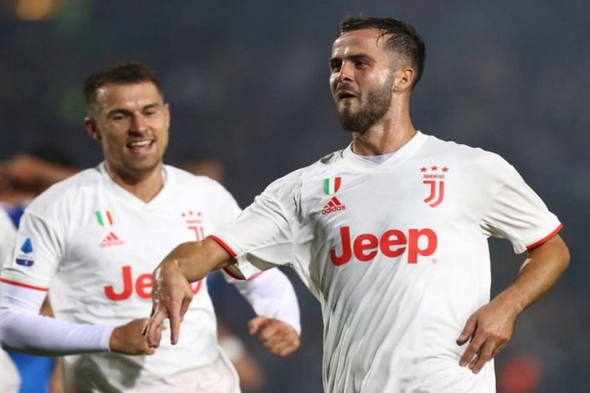 Serie A: Miralem Pjanic Strike Helps Cristiano Ronaldo-Less Juventus Beat Brescia To Go Top Of Table