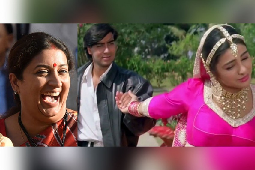 Watch: Ajay Devgn-Tabu Feature In Hilarious Meme Shared By Smriti Irani